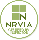 NRVIA certified rv inspector badge
