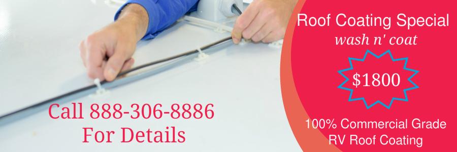 rv roof repair rubber coating